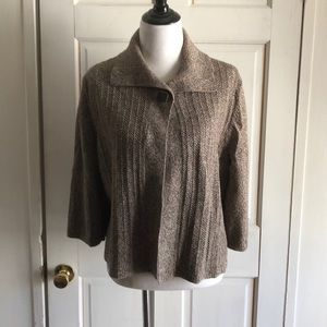 Women's CJ Banks 1X Tan Cardigan